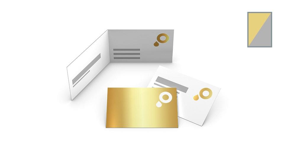 Visitenkarten mit Gold-/Silberfolie