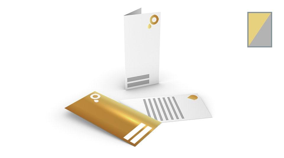 Grußkarten mit Gold-/Silberfolie