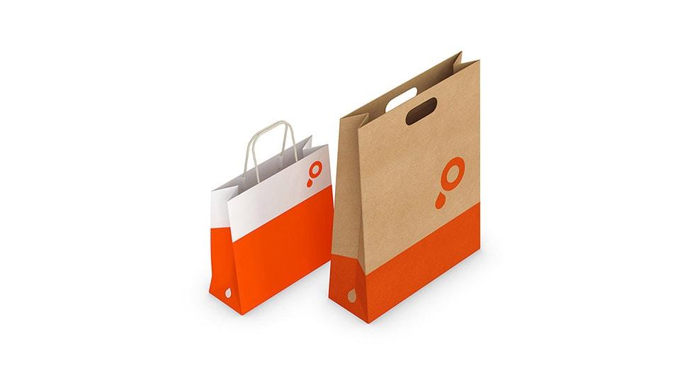 Print Kraft Paper Carrier Bags