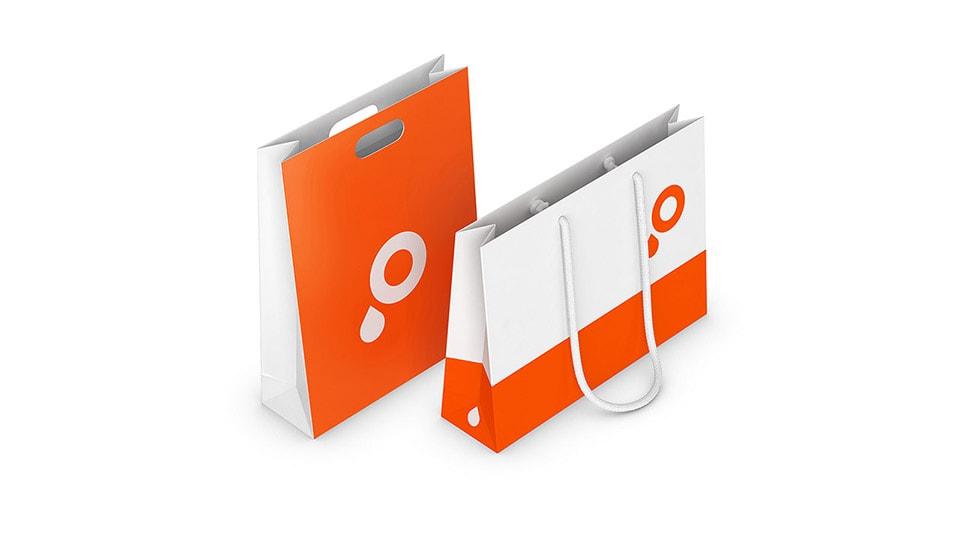 Papiertragetaschen mit Bilderdruckpapier drucken