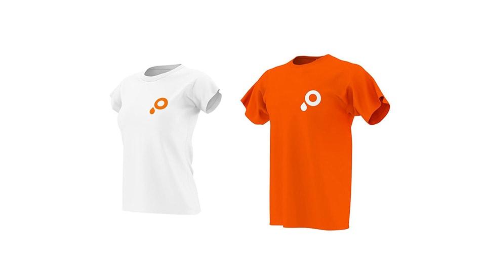 T-Shirts mit Rundhals-Ausschnitt